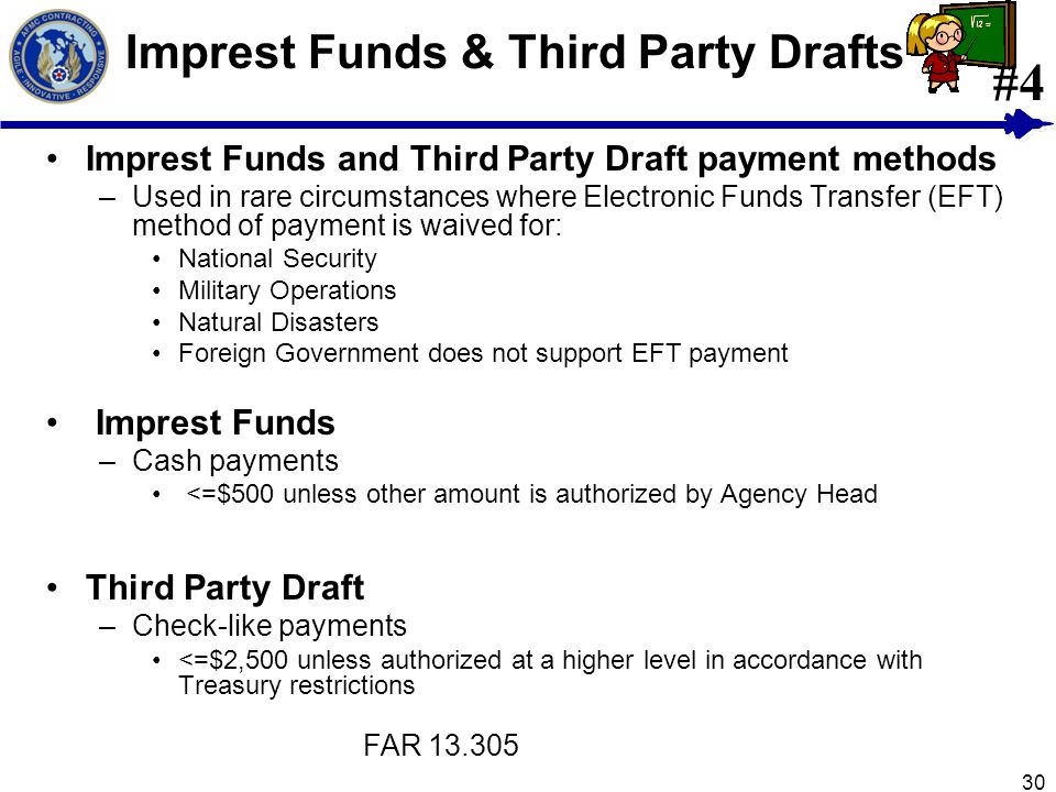 Imprest Funds & Third Party Drafts