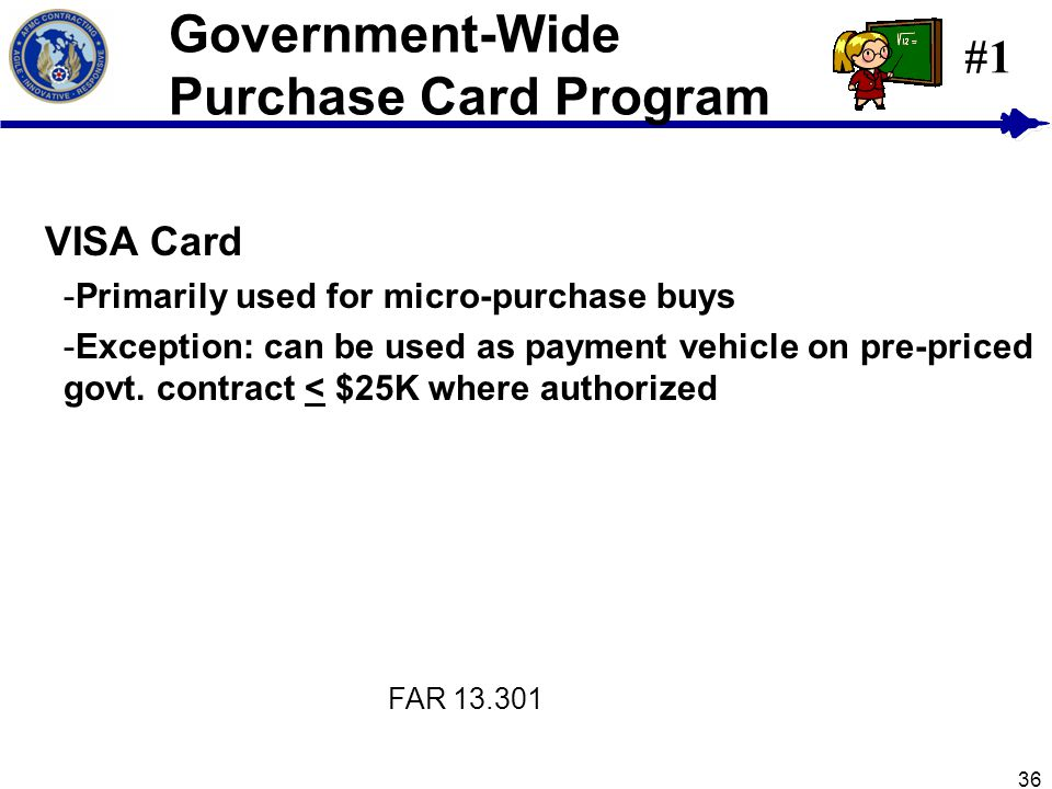 Government-Wide Purchase Card Program