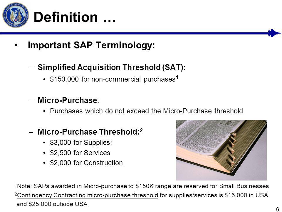 Definition … Important SAP Terminology: