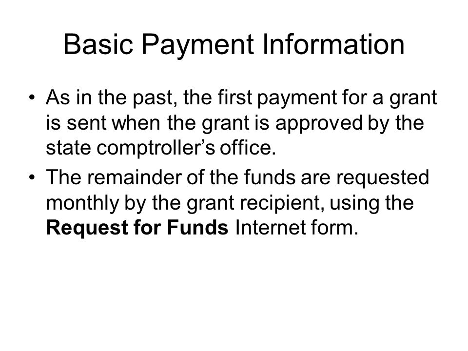 Basic Payment Information