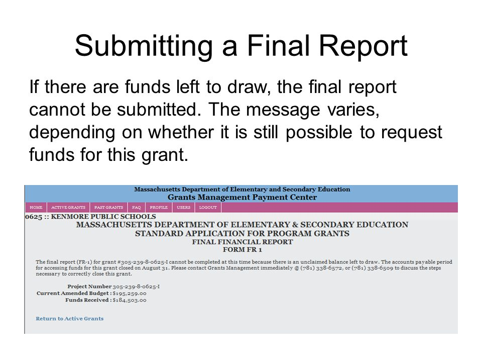 Grant Report Form  Introduction To PreAward  Ppt Download