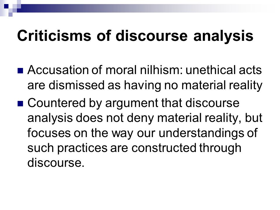 Criticisms of discourse analysis