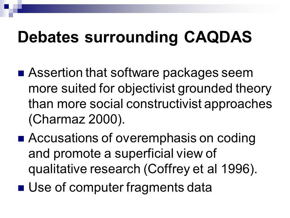 Debates surrounding CAQDAS