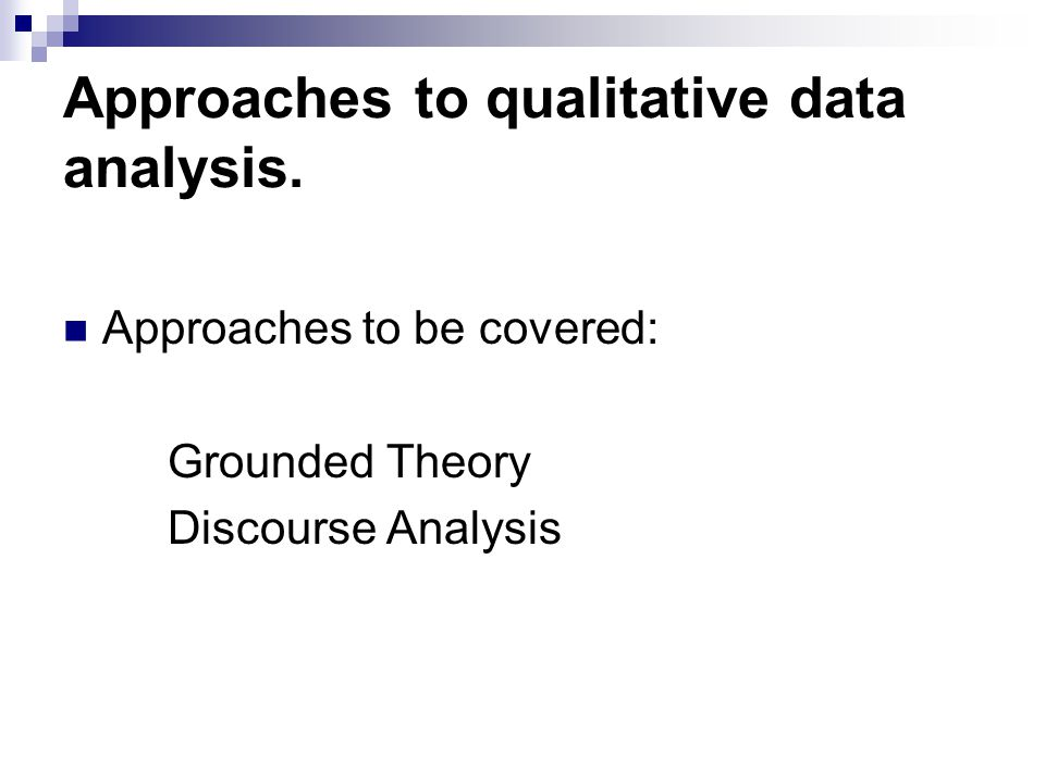 Approaches to qualitative data analysis.
