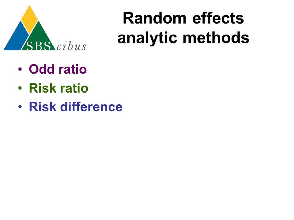 Random effects analytic methods