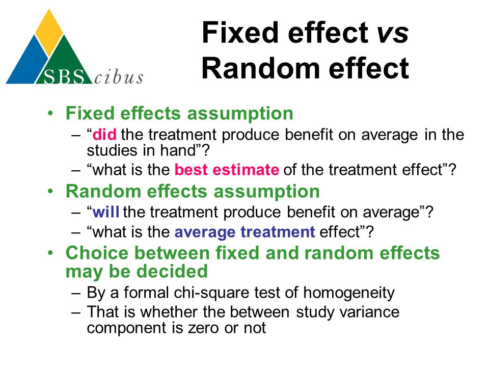 Fixed effect vs Random effect