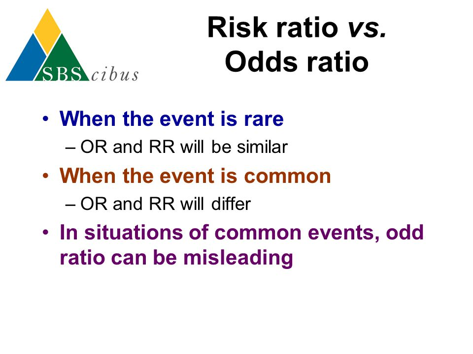 Risk ratio vs. Odds ratio
