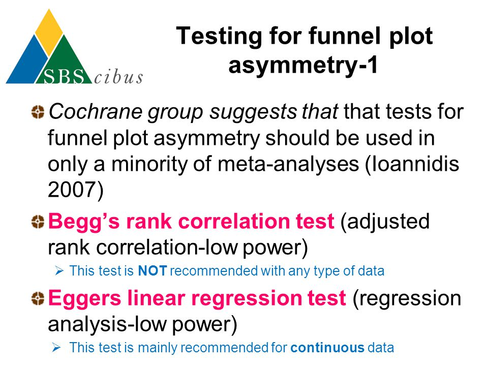 Testing for funnel plot asymmetry-1
