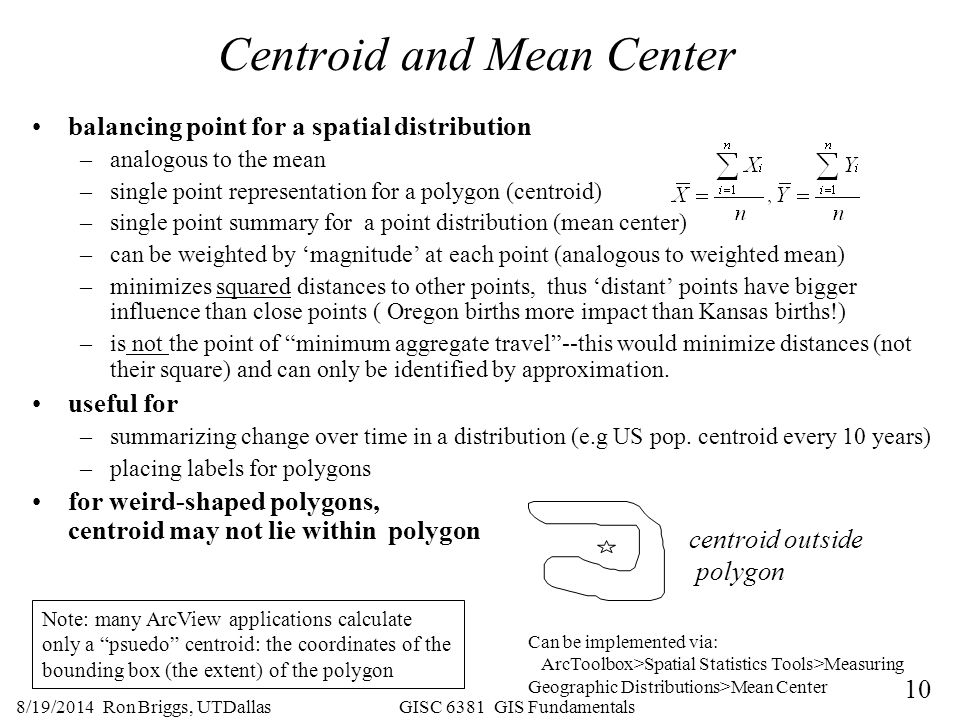 Centroid and Mean Center