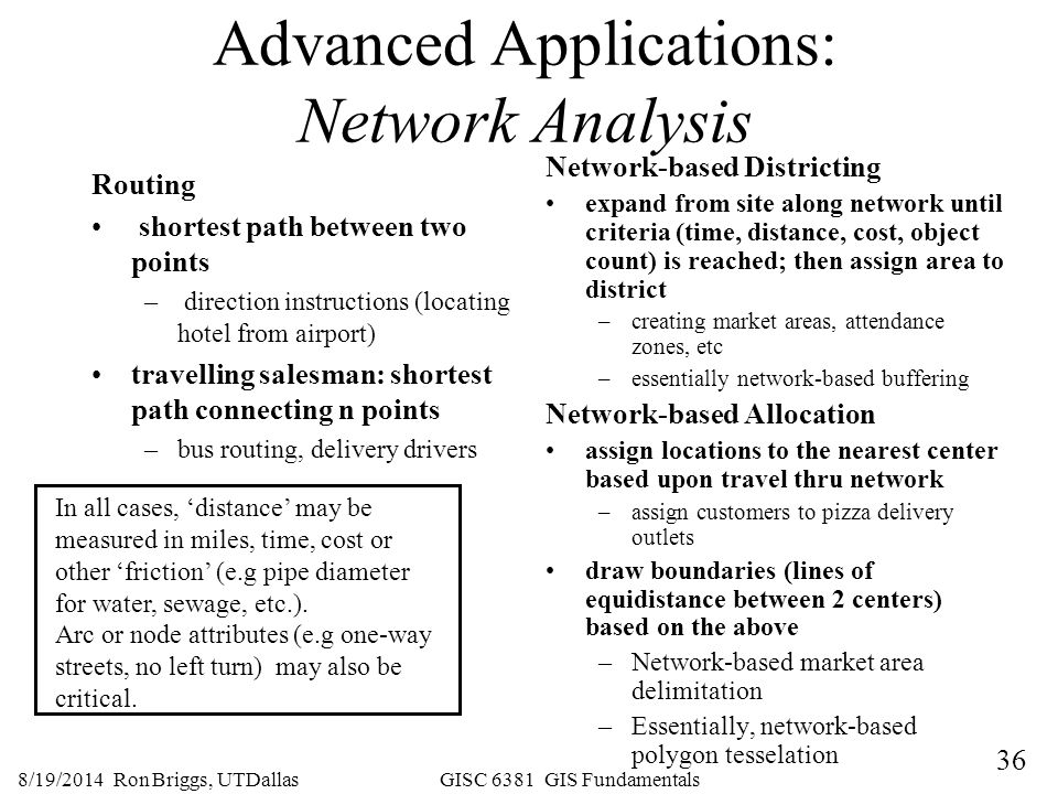 Advanced Applications: Network Analysis