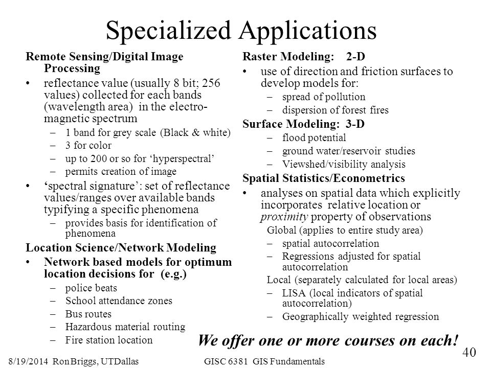 Specialized Applications