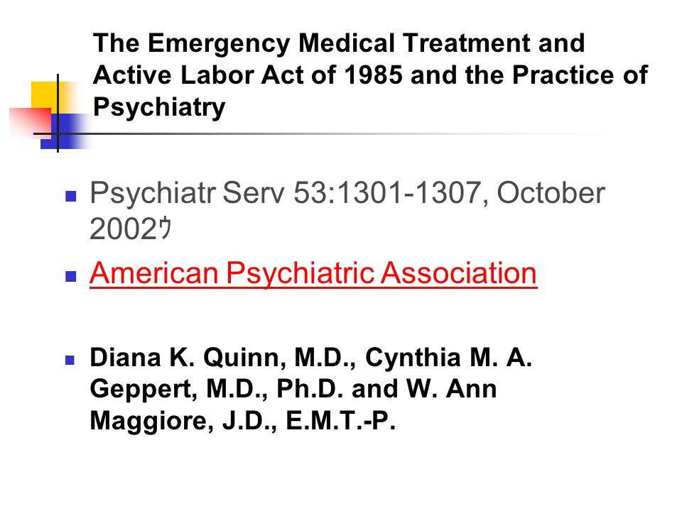 Psychiatr Serv 53:1301-1307, October 2002ゥ