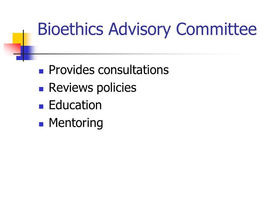 Bioethics Advisory Committee