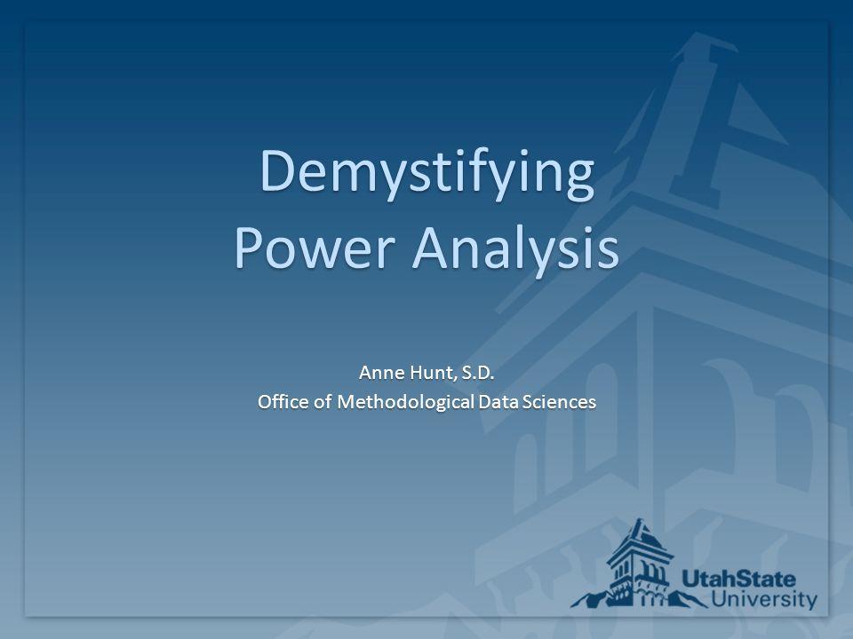 Demystifying Power Analysis