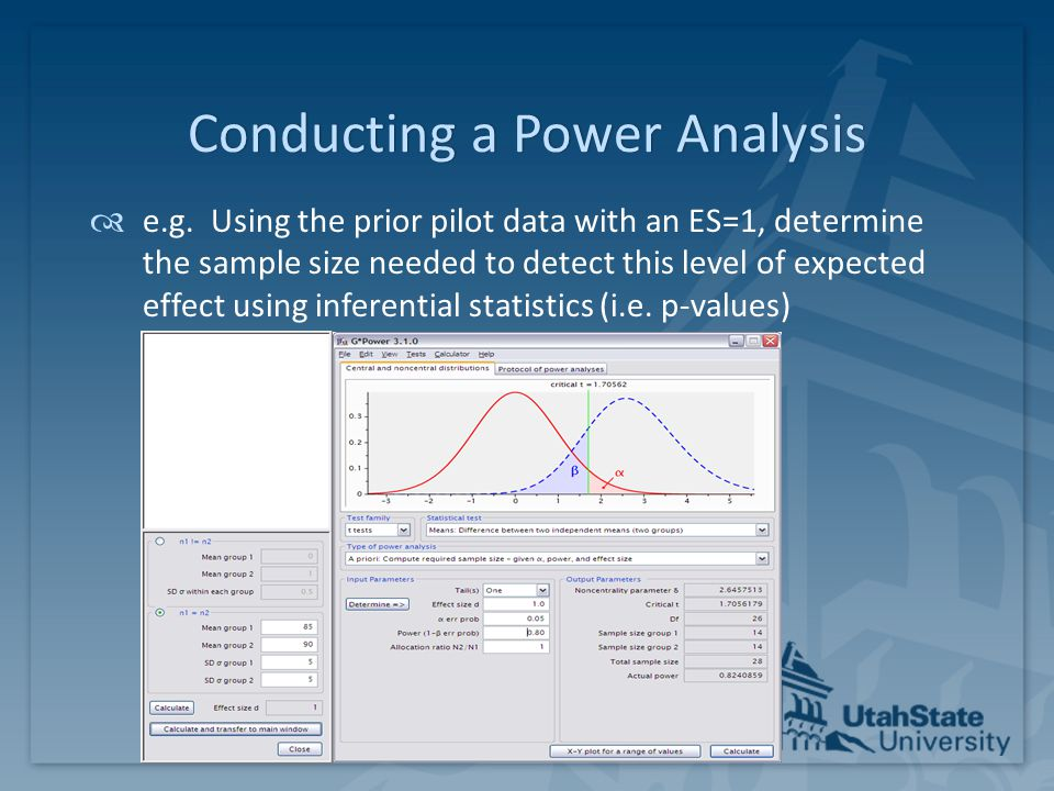 Conducting a Power Analysis