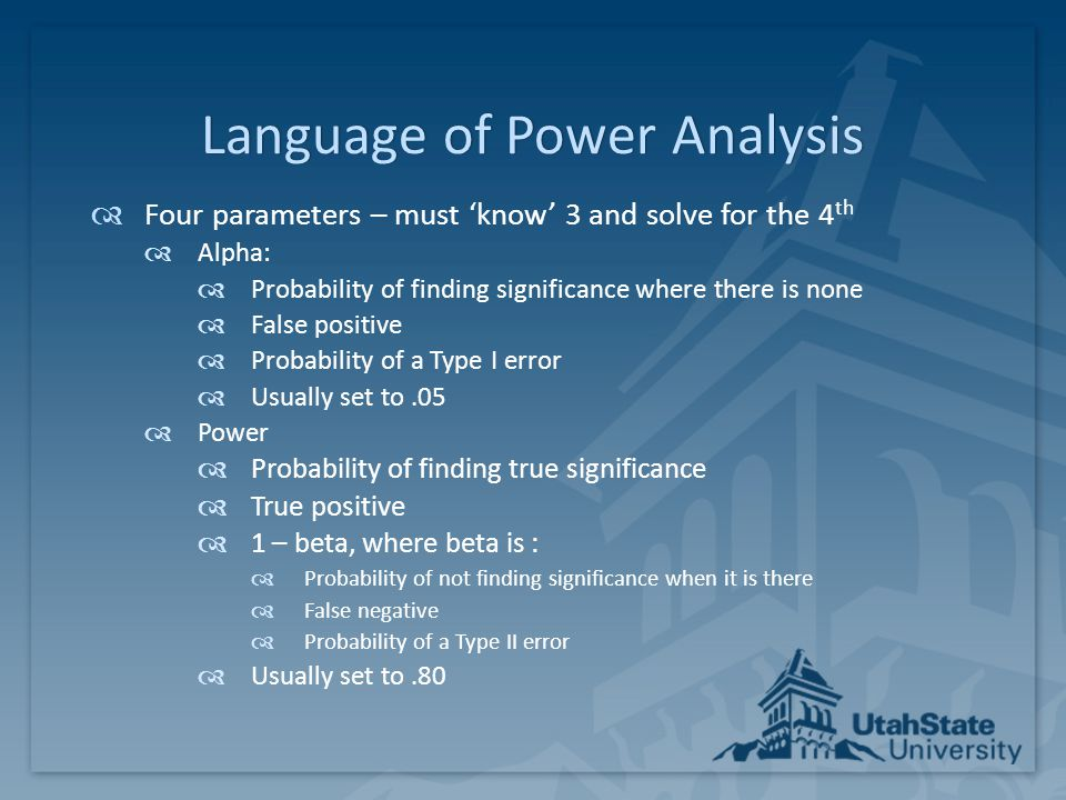 Language of Power Analysis