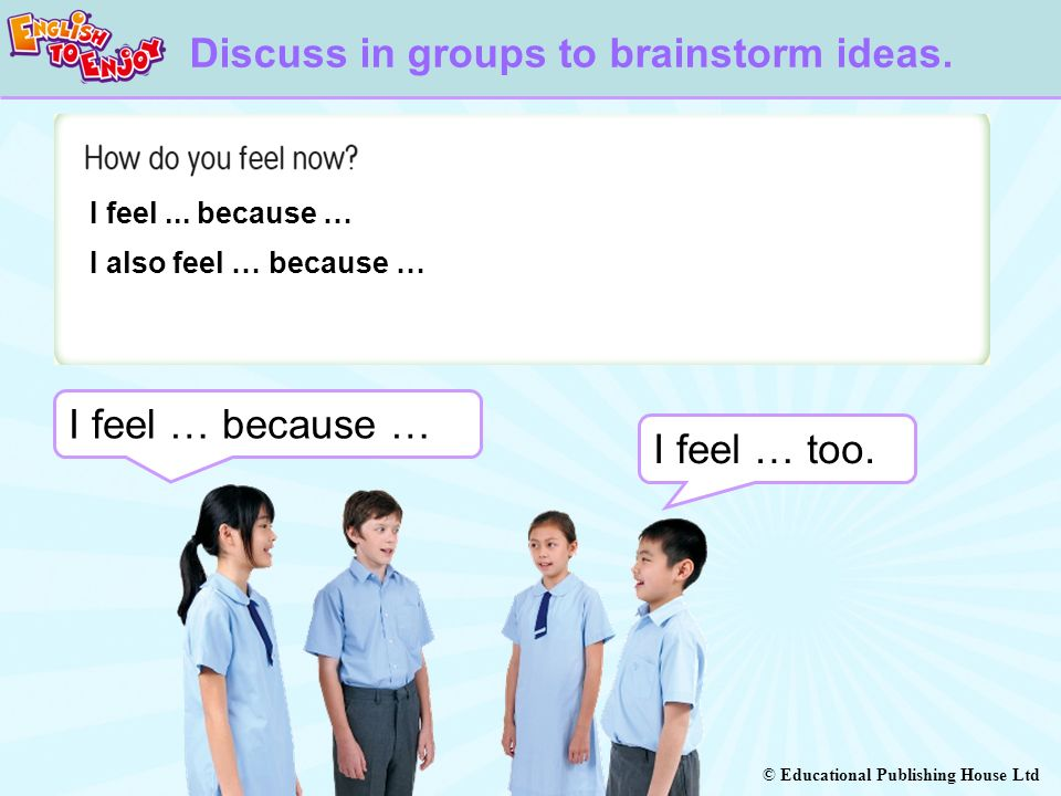 Discuss in groups to brainstorm ideas.