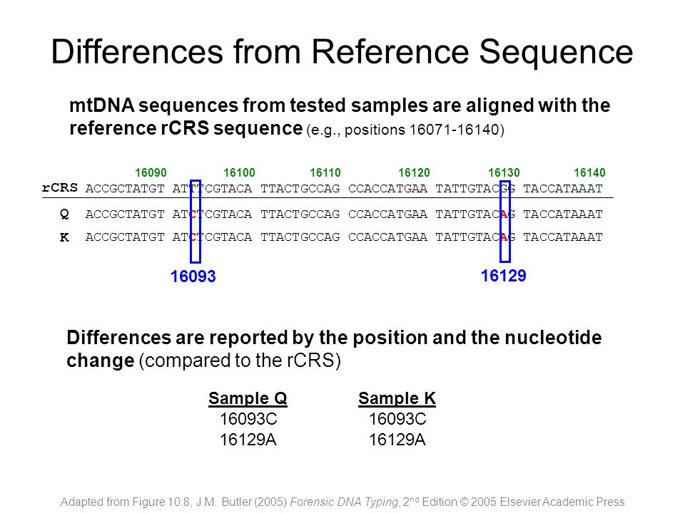 Differences from Reference Sequence