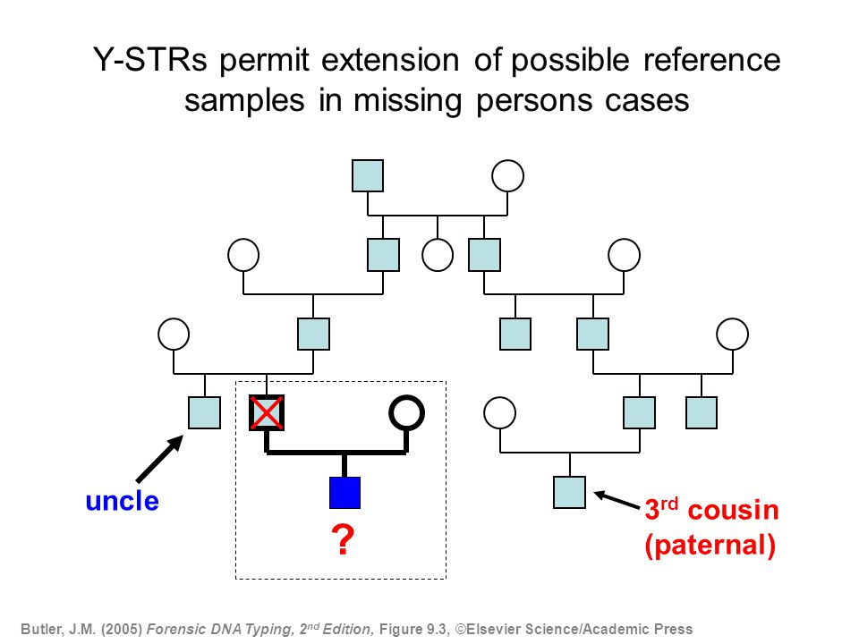 Y-STRs permit extension of possible reference samples in missing persons cases