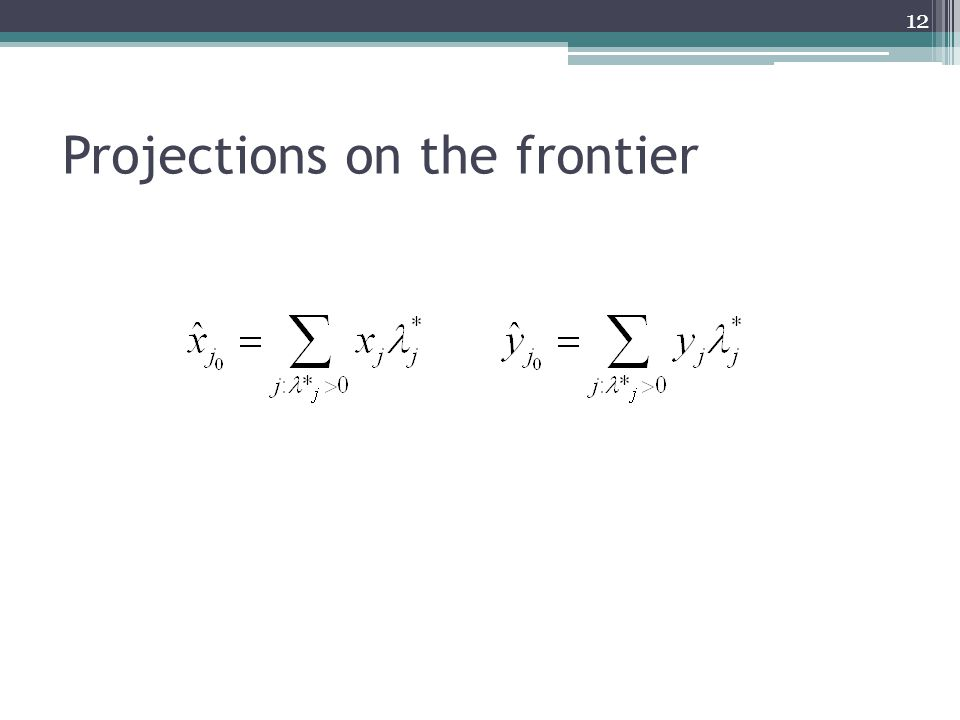 Projections on the frontier