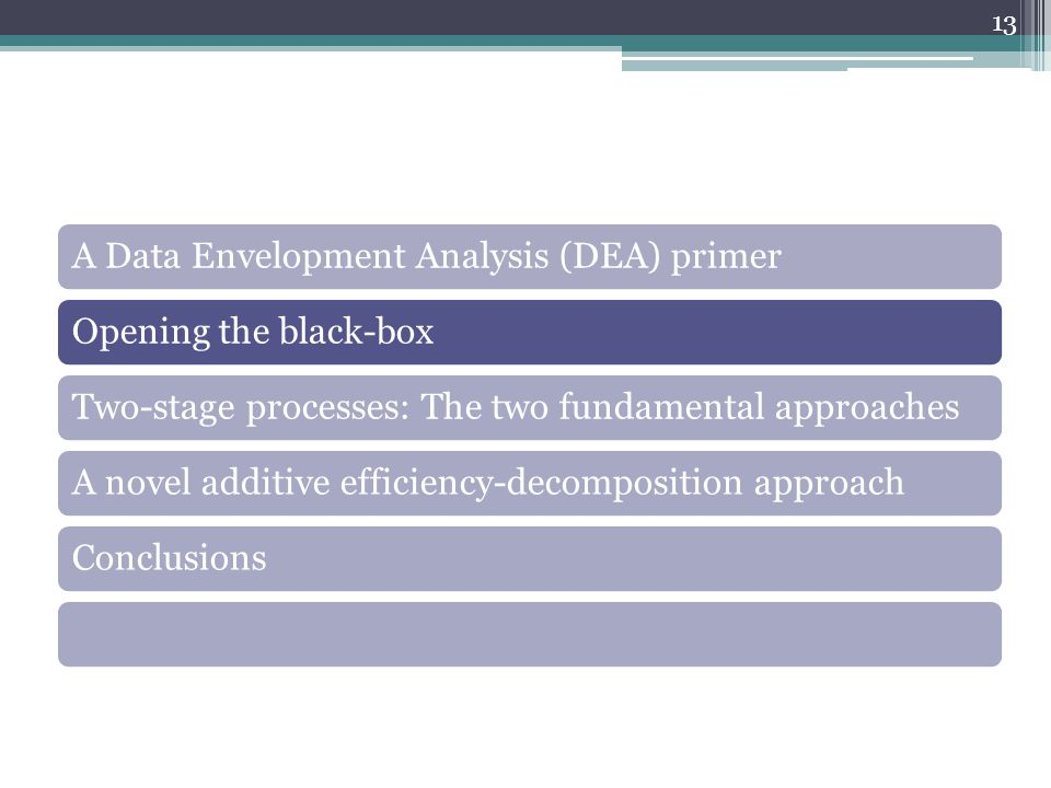 A Data Envelopment Analysis (DEA) primer