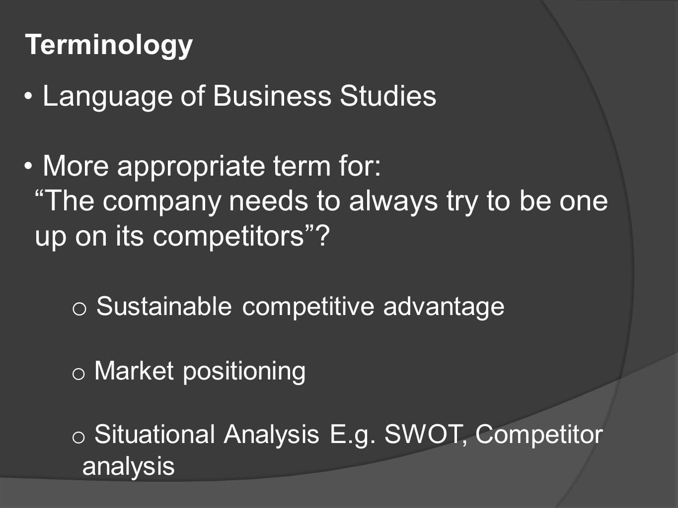 recommendations on sustainable competitive advantage marketing essay What gives your company its competitive advantage  place sustainability core  to their company's business strategy in the mistaken belief that.