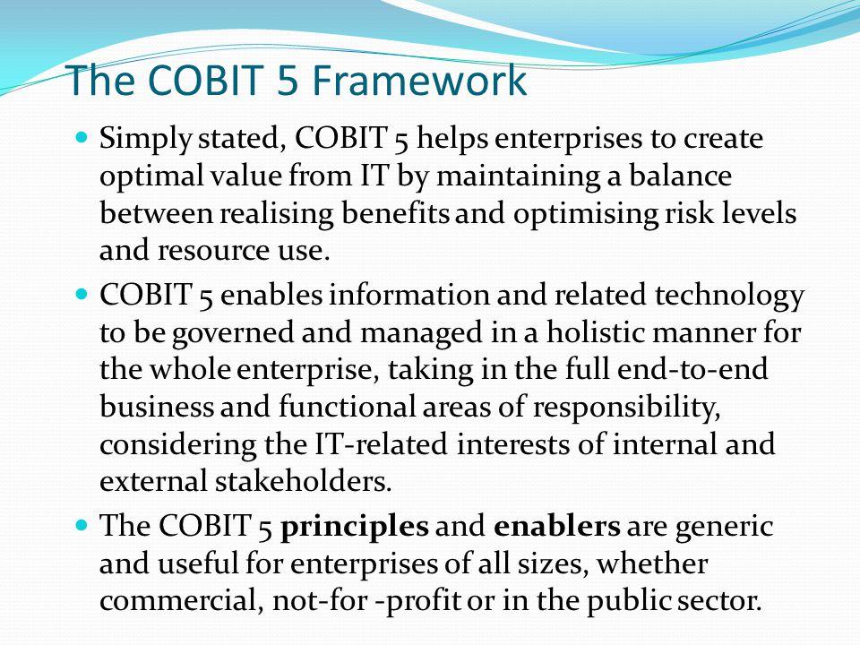 The COBIT 5 Framework