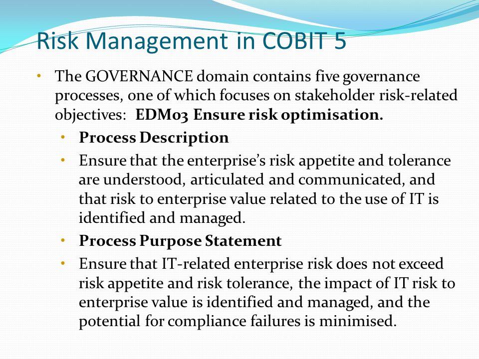 Risk Management in COBIT 5