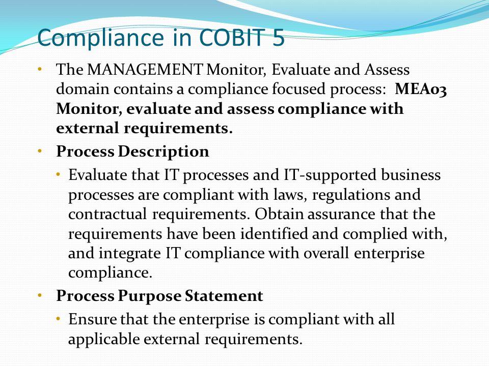 Compliance in COBIT 5