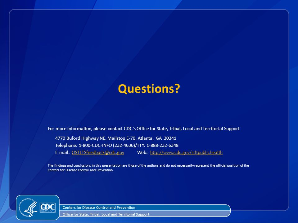Questions Centers for Disease Control and Prevention