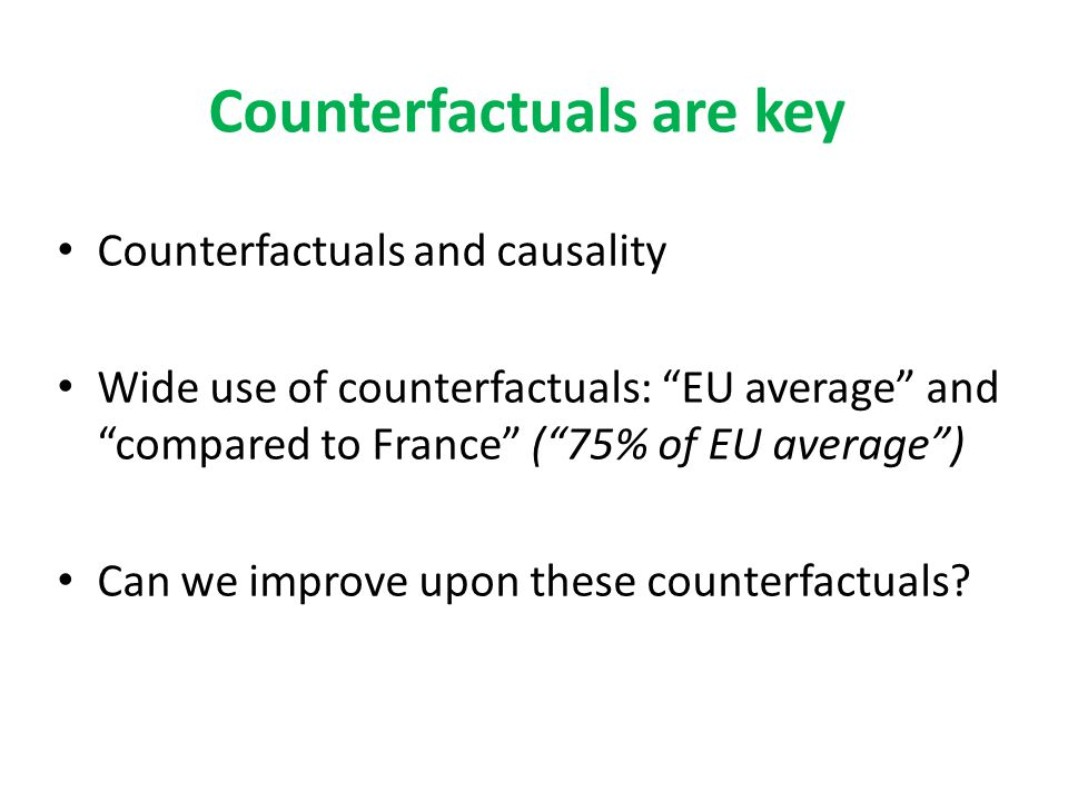 Counterfactuals are key