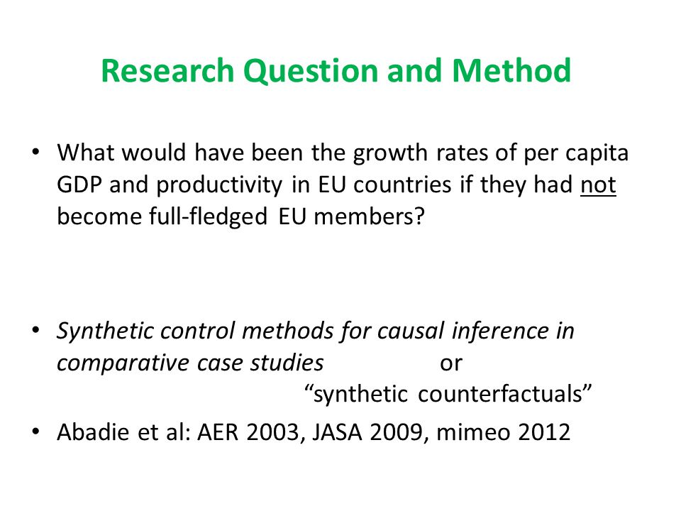 Research Question and Method