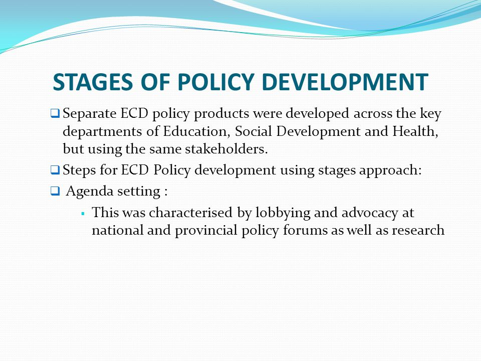 stages of policy development Development and development paradigms a (reasoned) review of prevailing visions  resources for policy making  issue papers easypol module 102.