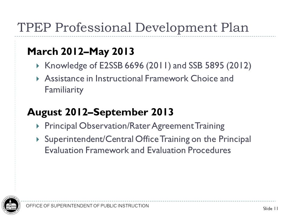 TPEP Professional Development Plan