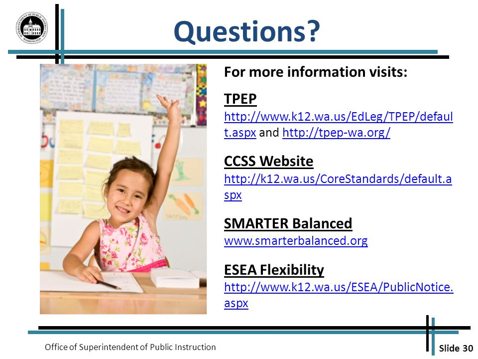 Questions For more information visits: TPEP
