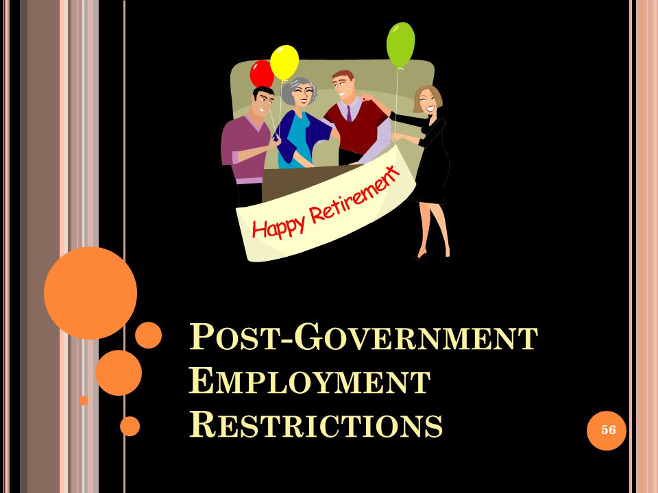 Post-Government Employment Restrictions