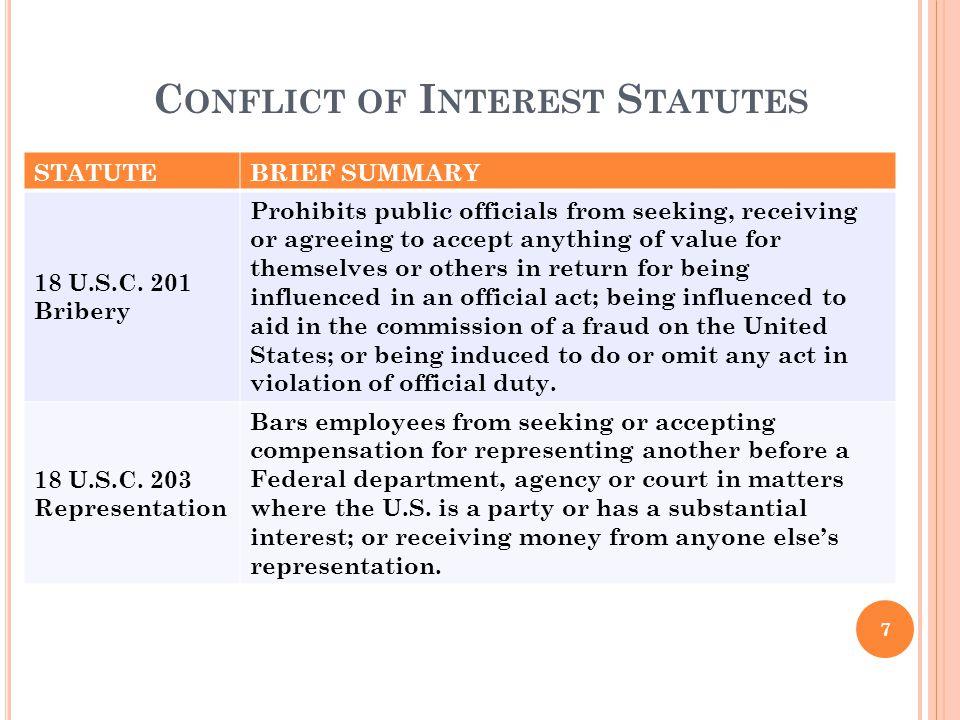 Conflict of Interest Statutes