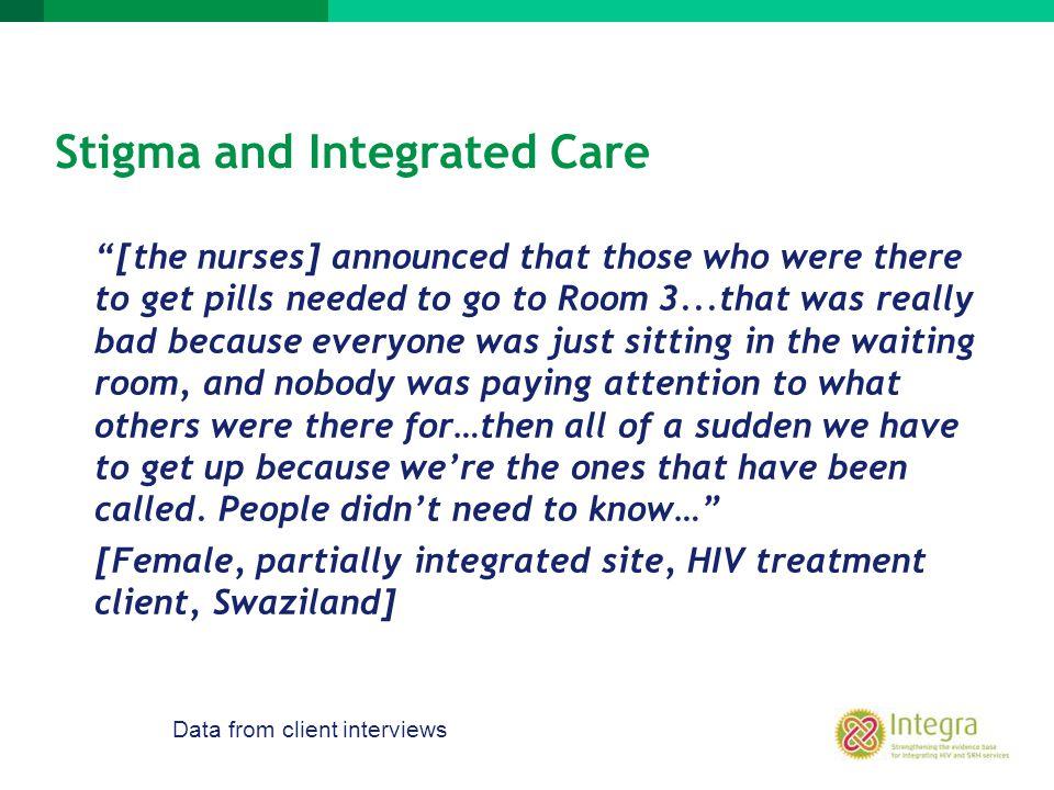 Stigma and Integrated Care