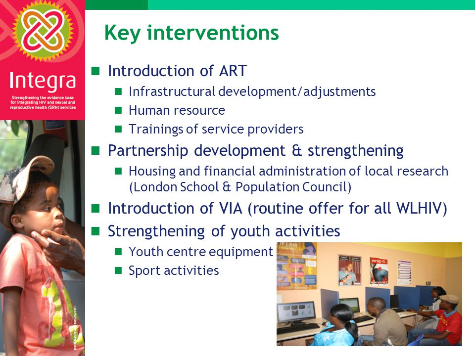Key interventions Introduction of ART