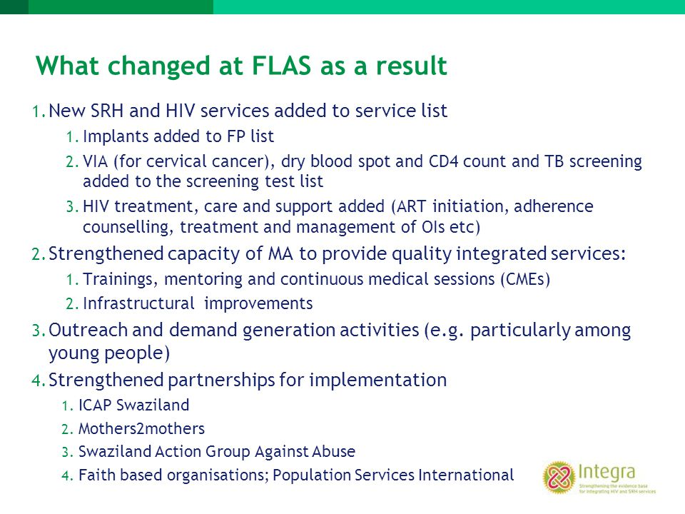 What changed at FLAS as a result