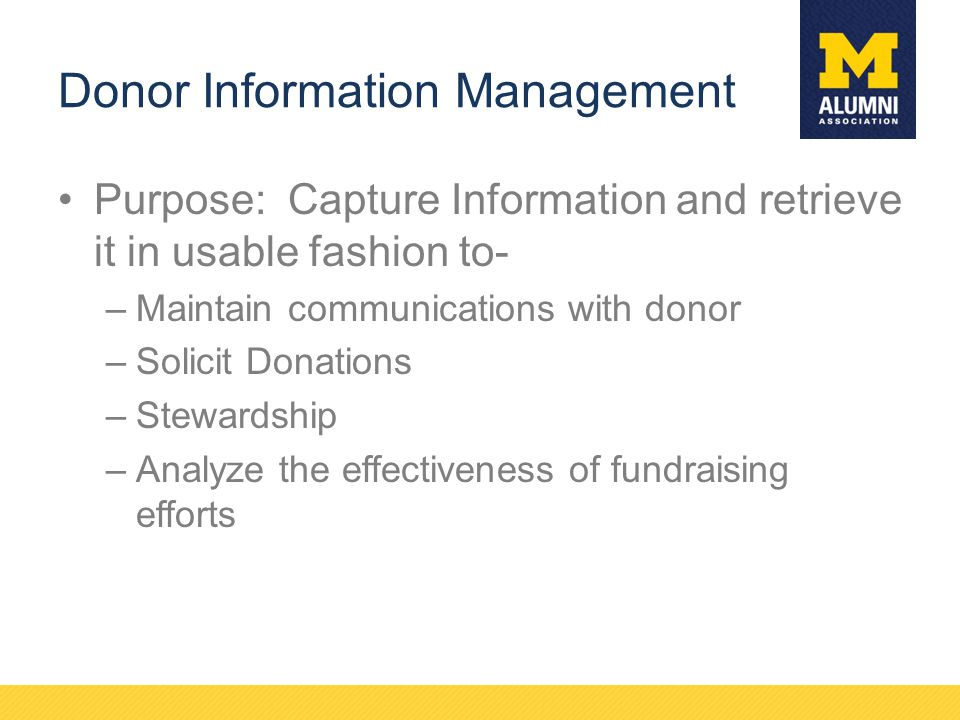 Donor Information Management