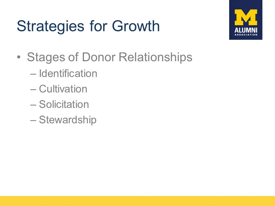 Strategies for Growth Stages of Donor Relationships Identification