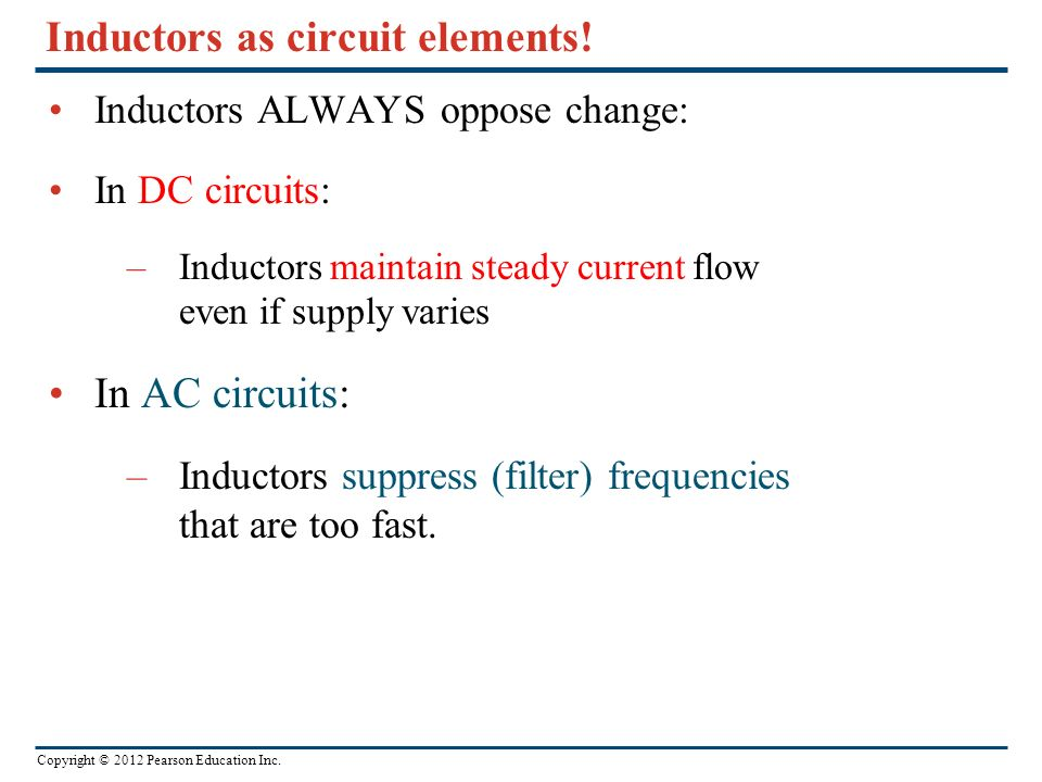 Inductors as circuit elements!
