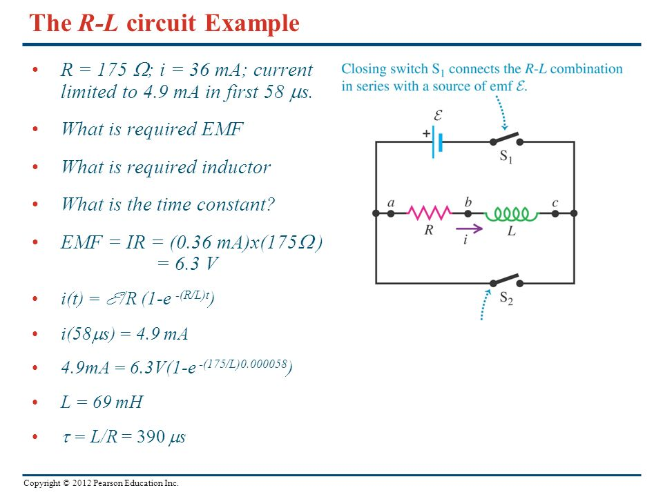 The R-L circuit Example
