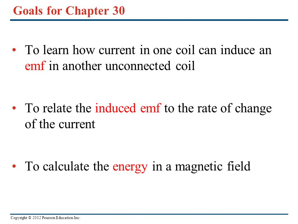 To relate the induced emf to the rate of change of the current