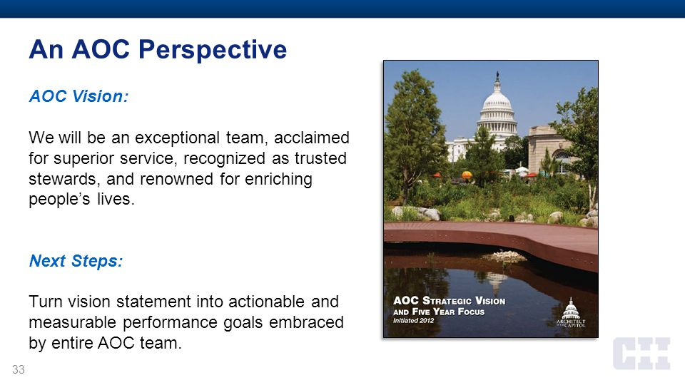An AOC Perspective AOC Vision: