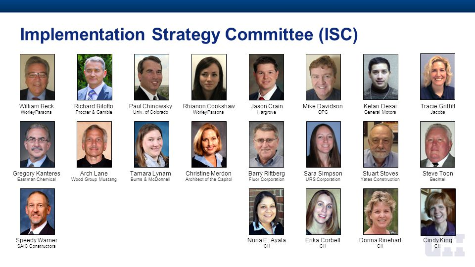 Implementation Strategy Committee (ISC)