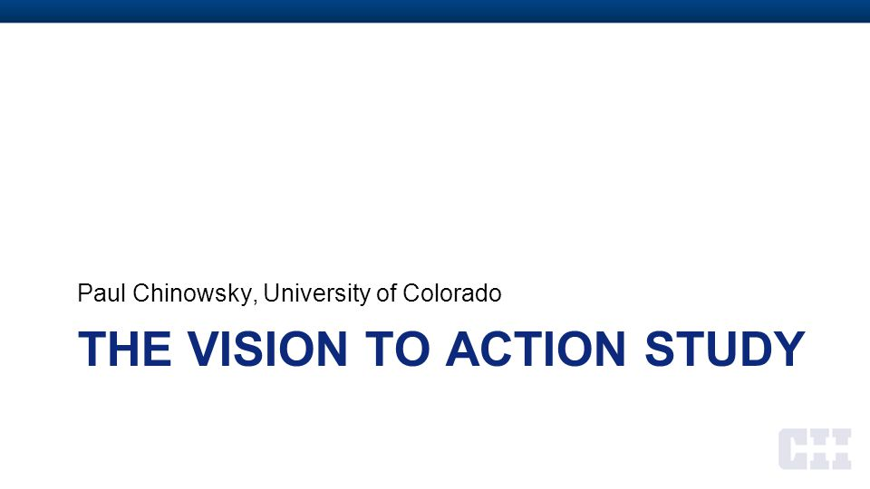The VISION to ACTION Study