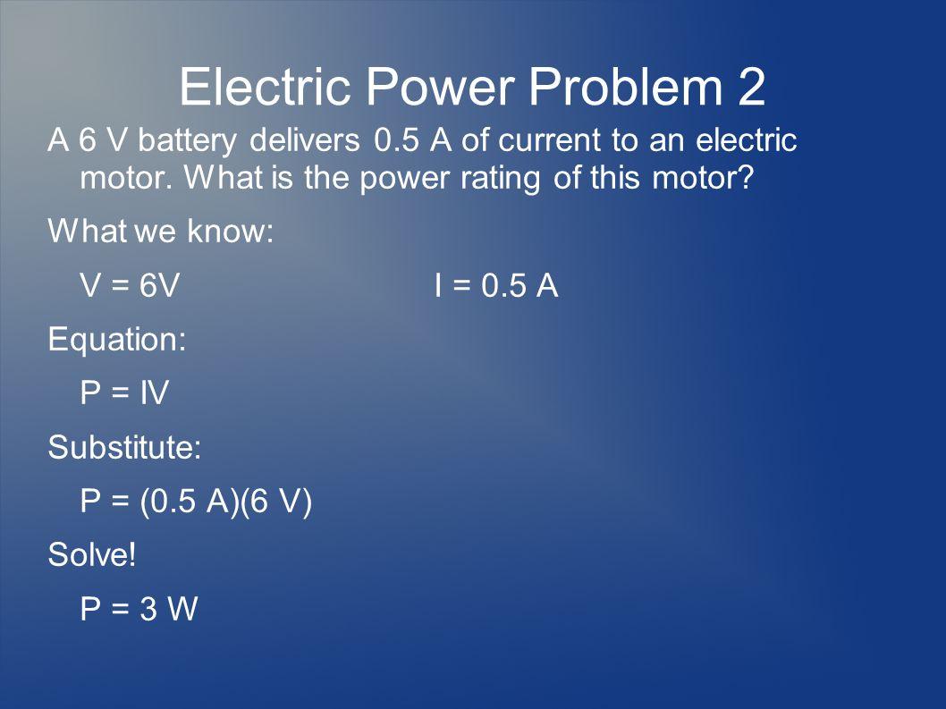 Electric Power Problem 2