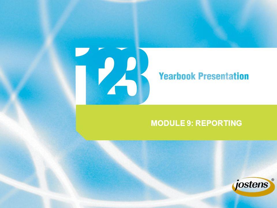 MODULE 9: REPORTING